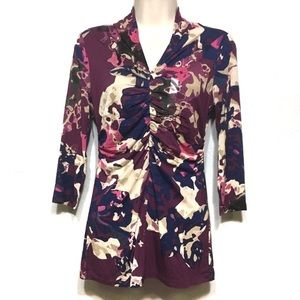 NWT Ann Taylor Factory Colorful Gathered Blouse